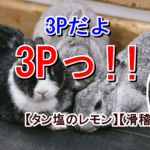 ふかわ「3Pだよ  3Pっ!!」